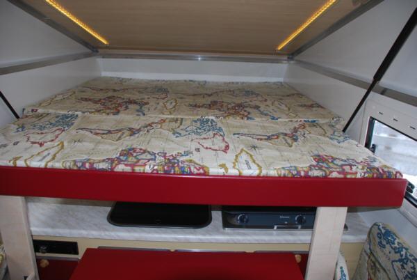 Bett ausgezogen